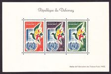 Dahomey C16a Mnh 1961 1st Anniversary Admission to Un Doves Mini Sheet of 3