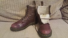 Dr. MARTENS size 5 BROWN fur SERENA winter ankle