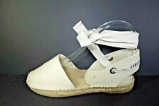 DIOR 39 Beige Off White Nicely-D Espadrilles SOLD OUT Ankle Strap Tie Flats NEW