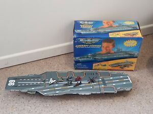 Vintage Micro Machines Military Aircraft Carrier With Planes - Incomplete Boxed