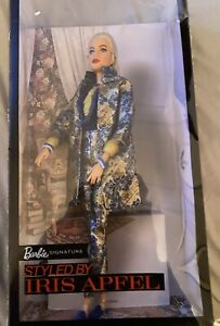 NIB Barbie Styled by IRIS APFEL Doll W/Floral-Patterned Brocade Suit PLEASE READ