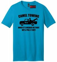 Camel Towing Funny Mens V-Neck T Shirt Adult Humor Rude Gift Tee Tow Truck