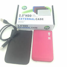 "New 250GB 250GB External Portable 2.5"" USB 2.0 Hard Drive HDD POCKET SIZE Pink"