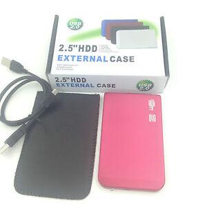 "New 1TB 1000 GB External Portable 2.5"" USB 2.0 Hard Drive HDD POCKET SIZE Pink"