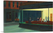 ARTCANVAS Nighthawks 1942 Canvas Art Print by Edward Hopper