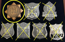 ia/ Historisches police badge, New York Police 1845 , NYPD