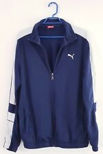 PUMA Mens Size Medium Zip Up Through Track Jackets Sports Tops Navy Blue