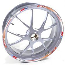 ESES Pegatina llanta Honda plata CBF 500 CBF500 I Blanco Rojo Azul adhesivo cint