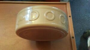 Mason cash large dog bowl ceramic water/food used offers welcome