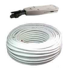 100m Cat 6 weiß UTP +LSA Verlegekabel Netzwerk Kabel LAN ( Cat 7 Gigabit weiss