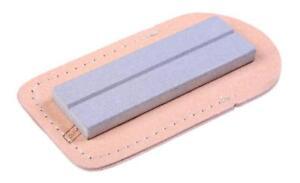 "Eze-Lap Fine (600G) Pocket Sharpening Stone 1"" x 3"" Wallet & Hook Groove 26F"