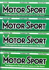 Various Issues of MOTOR SPORT Magazine from January 1982 to December 1989