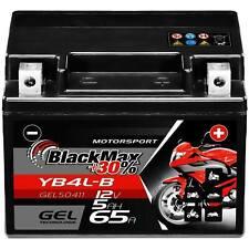BlackMax Gel Roller Batterie 12V 5Ah YB4L-B CB4L-B 50411 12N4-3B YB4L-A ers 4Ah