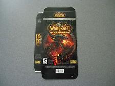 World of WarCraft Cataclysm Empty Display Box  NEW  PC  No Game - Display Box