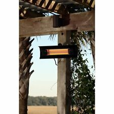 Fire Sense Black Steel Wall Mounted Infrared Patio Heater, 7.5L x 22W x 4.5H in