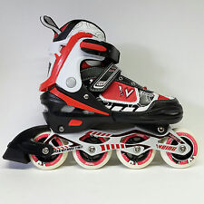 Weing Inline Skate verstellbare Kinder Inliner Skate rot Gr. 30-33 Abec 7 - LED