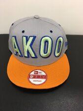 Akoo New NWT Black Logo Prototype Sample Snapback Hat