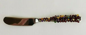 Beaded Jeweled Butter Kitchen Cutlery Knife (1) Multi Color RSVP Endurance