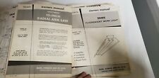 Vintage Sears, Roebuck & Co Craftsman Tools Owners Manual Guides Lot