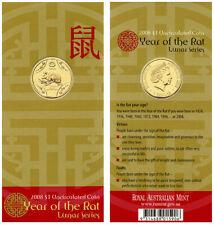 2008 Australia Lunar Series $1 Coin - Year of the Rat