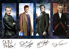 DOCTOR WHO MONTAGE GLOSSY PRINT - SIGNED x4 (INC. DAVID TENNANT, PETER CAPALDI)