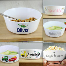 Personalised Childrens Bowl. Breakfast Dish. Plastic. Baby Kids Gift Present