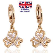 Glass Brass Drop/Dangle Costume Earrings
