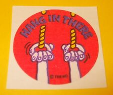 Vtg 80's TREND Scratch n Sniff MATTE 1980s Sticker HANG IN THERE~ROPE Scent~Rare