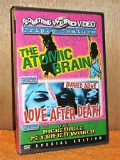 Atomic Brain/Love After Death/The Incredible Petrified World (DVD, 2007) NEW