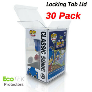 "30 Funko POP Acid-Free Crystal Clear Strong Protector case For 4"" Vinyls Figures"