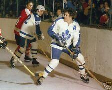 Darryl Sittler & Tiger Williams Maple Leafs, 8x10 Photo