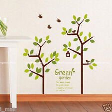 5 BIRDS & 123 CM high GREEN TREE Removable Wall Decal for your home, office,shop