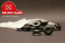 (100) M8-1.25 Metric Hex Flange Lock Nuts Class 10 DIN 6927