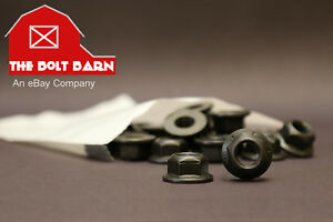 (12) M10-1.5 Metric Hex Flange Lock Nuts Class 10 DIN 6927