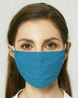 🇫🇷 Masque de Protection Lavable Norme Française AFNOR Barrière Bleu Turquoise