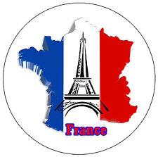 FRANCE CARTE / DRAPEAU - Rond souvenir Aimant de réfrigérateur - NEUF - Cadeau /