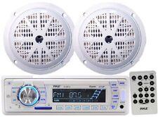 *KIT* Pyle Marine Head-Unit AM/FM/USB/SD MP3 Player w/ 2 x 100W 4'' Speakers