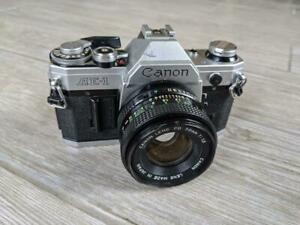 vintage CANON camera AE1 lens 50mm 1:1.8