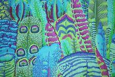 Fat Quarter Kaffe Fassett Feathers - Green - Cotton Quilting Fabrics