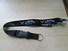 CALLAWAY GOLF   KEY RING LANYARD NECKLACE BADGE HOLDER CLIP