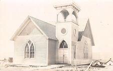 Winnebago Nebraska~Presbyterian Church Construction~Houses~Water Tower~1908 RPPC