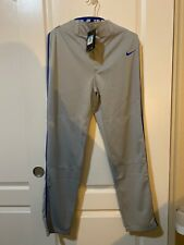 New Nike Men's Swoosh Piped Dri-Fit Baseball Pants Grey/Royal Medium M Med