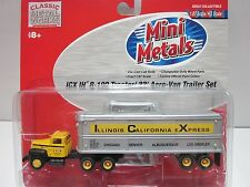 HO Classic Metal Works - ICX - #31115 Mini Metals 32' Aero Van Trailer Set