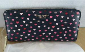 NWT Kate Spade Navy Multi Sylvia Lips Slim Continental Wallet