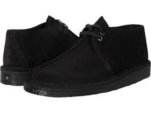 Men's Shoes Clarks Originals DESERT TREK Suede Lace Up Boots 55486 BLACK