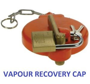 """3"""" Orange Single Arm Cap With Padlock for Vapour Recovery At Petrol Station"""