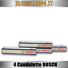 4 Candelette Fiat Punto - Croma - Multipla - Doblo - 1.9 JTD Multijet BOSCH 036