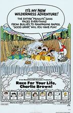 RACE FOR YOUR LIFE CHARLIE BROWN- orig 27x41 movie poster 1977 - CHARLES SCHULTZ