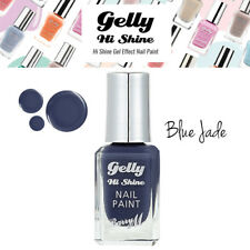 Barry M Gelly Hi Shine Gel Effect Nail Paint Extra Glossy Finish - Blue Jade