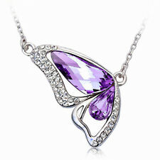 Butterfly Wing Necklace with Swarovki crystal